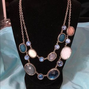 Beautiful blue and white fashion necklace